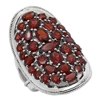 Himalayan Gems Sterling Silver Multi-Shape Gemstone Ring