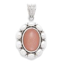 Himalayan Gems Sterling Silver Multi Gemstone Pendant