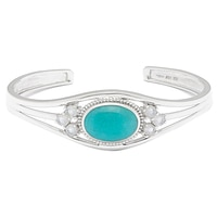 Himalayan Gems Sterling Silver Multi Gemstone Cuff Bracelet