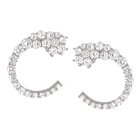Toscana Diamonelle Sterling Silver Rhodium Plated Stud Earrings