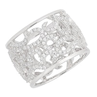 Bague filigranée sur argent sterling de la collection Toscana Diamonelle