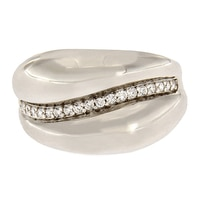 Toscana Diamonelle Sterling Silver High Polished Ring