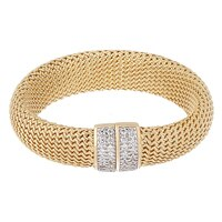 Bracelet sur argent sterling plaqué or jaune 14 ct de la collection Toscana Diamonelle