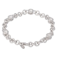 Bracelet tridimensionnel sur argent sterling de la collection Toscana Diamonelle