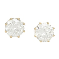 Diamonelle 10K Gold Fancy Stud Earrings
