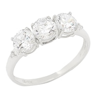 Bague Trinity sur or 10 ct de Diamonelle