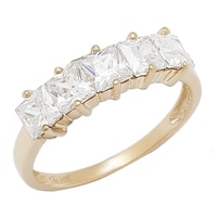 Bague Trinity en or 10 ct de Diamonelle