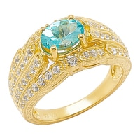 Generations 1912 Sterling Silver Paraiba Apetite & White Sapphire Ring