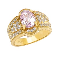 Generations 1912 Sterling Silver Oval Kunzite Ring