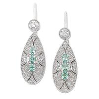 Generations 1912 Sterling Silver Alexandrite & White Sapphire Earrings