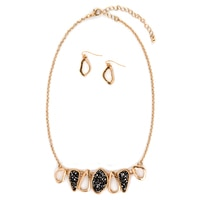 GLAMOUR Drop Necklace & Matching Earring Set