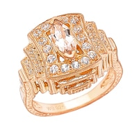 Generations 1912 Sterling Silver Morganite Ring