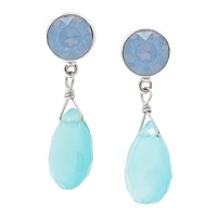 Hillberg & Berk Sterling Silver Jasmine Drop Earrings