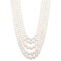 Pearl Lustre Sterling Silver Freshwater Pearl Nested Necklace