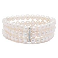 Pearl Lustre Sterling Silver Freshwater Pearl Bracelet