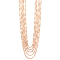 Pearl Lustre Sterling Silver Yellow Gold Plate Peach Freshwater Pearl Necklace