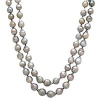 Pearl Lustre Sterling Silver Black South Sea Pearl Necklace