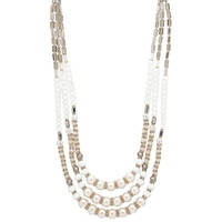 Ali-Khan Retro Faceted Bead Necklace