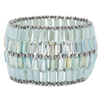 Ali-Khan Mosaic Tile Stretch Bracelet