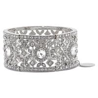 Ali-Khan Classic Crystal Stretch Bracelet