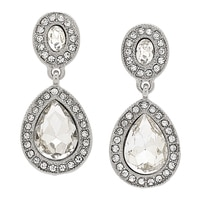 Ali-Khan The Best Little Teardrop Crystal Earrings