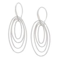 Pendants d'oreille ovales fantaisie en argent sterling de la collection Jewels of Italy