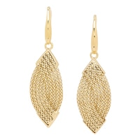 Uno A Erre 18K Yellow Gold Marquise Drop Earrings