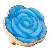 Bague réglable en forme de rose bleue scintillante de Alchemía by Charles Albert