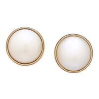 Alchemia by Charles Albert Pearl Post Stud Earrings