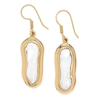 Alchemía by Charles Albert Biwa Pearl Drop Earrings
