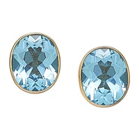Alchemía by Charles Albert Blue Topaz Stud Earrings