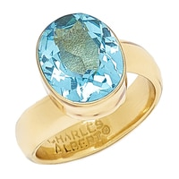 Alchemía by Charles Albert Blue Topaz Adjustable Ring
