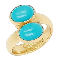 Alchemia by Charles Albert Blue Turquoise Bypass Adjustable Ring