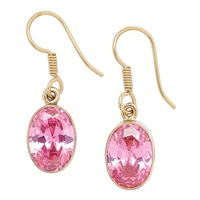 Alchemía by Charles Albert Pink CZ Stud Earrings
