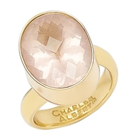 Alchemía by Charles Albert Rose Quartz Adjustable Ring