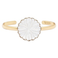 Alchemía by Charles Albert Mother of Pearl Flower Mini Cuff