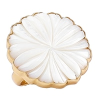 Alchemía by Charles Albert Mother of Pearl Flower Adjustable Ring