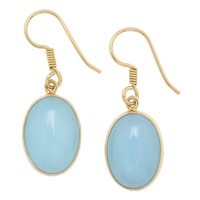 Alchemía by Charles Albert Blue Agate Drop Earrings