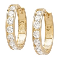 Diamonelle 10K Yellow Gold Hoop Earrings