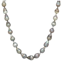 Pearl Lustre 14K Yellow Gold Black South Sea Pearl Necklace