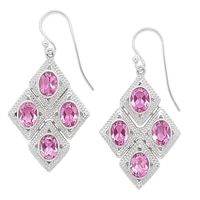 Himalayan Gems Sterling Silver Quartz Doublet Earrings