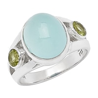 Himalayan Gems Sterling Silver Gemstone Ring