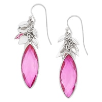 Himalayan Gems Sterling Silver Doublet Drop Earrings