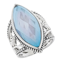 Himalayan Gems Sterling Silver Doublet Ring