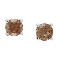 Sigal Style Sterling Silver Rhodium Plate Stud Earrings
