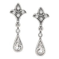 Timeless Classics Sterling Silver Crystal Drop Earrings