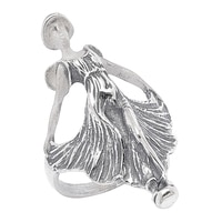 Timeless Classics Sterling Silver Art Nouveau Frosted Look Woman Ring