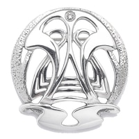 Timeless Classics Sterling Silver Crystal High Polish Art Deco Brooch