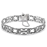 Timeless Classics Sterling Silver Crystal Victorian Bracelet