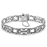 Timeless Classics Sterling Silver Crystal Victorian Bracelet